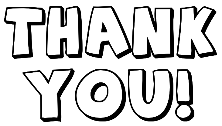 Thank You Clip Art Black And White | Clipart library - Free Clipart