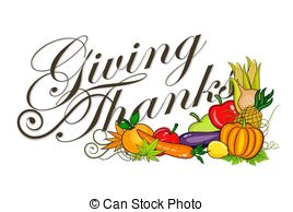 ... Thanks giving - An illustration of Giving Thanks text and.