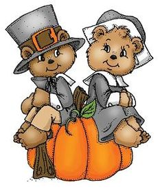 Thanksgiving Bear Pilgrims. Art Impressions Rubber Stamps..I have these stamps you can. Thanksgiving Clip Art FreeThanksgiving ...