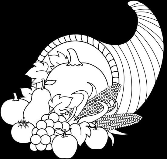 Thanksgiving black and white harvest cornucopia black and white thanksgiving clip art october