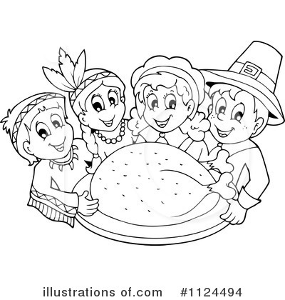 Thanksgiving Clip Art Black And White Rf Thanksgiving Clipart