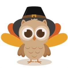 Thanksgiving Owl SVG cutting  - Thanksgiving Clipart