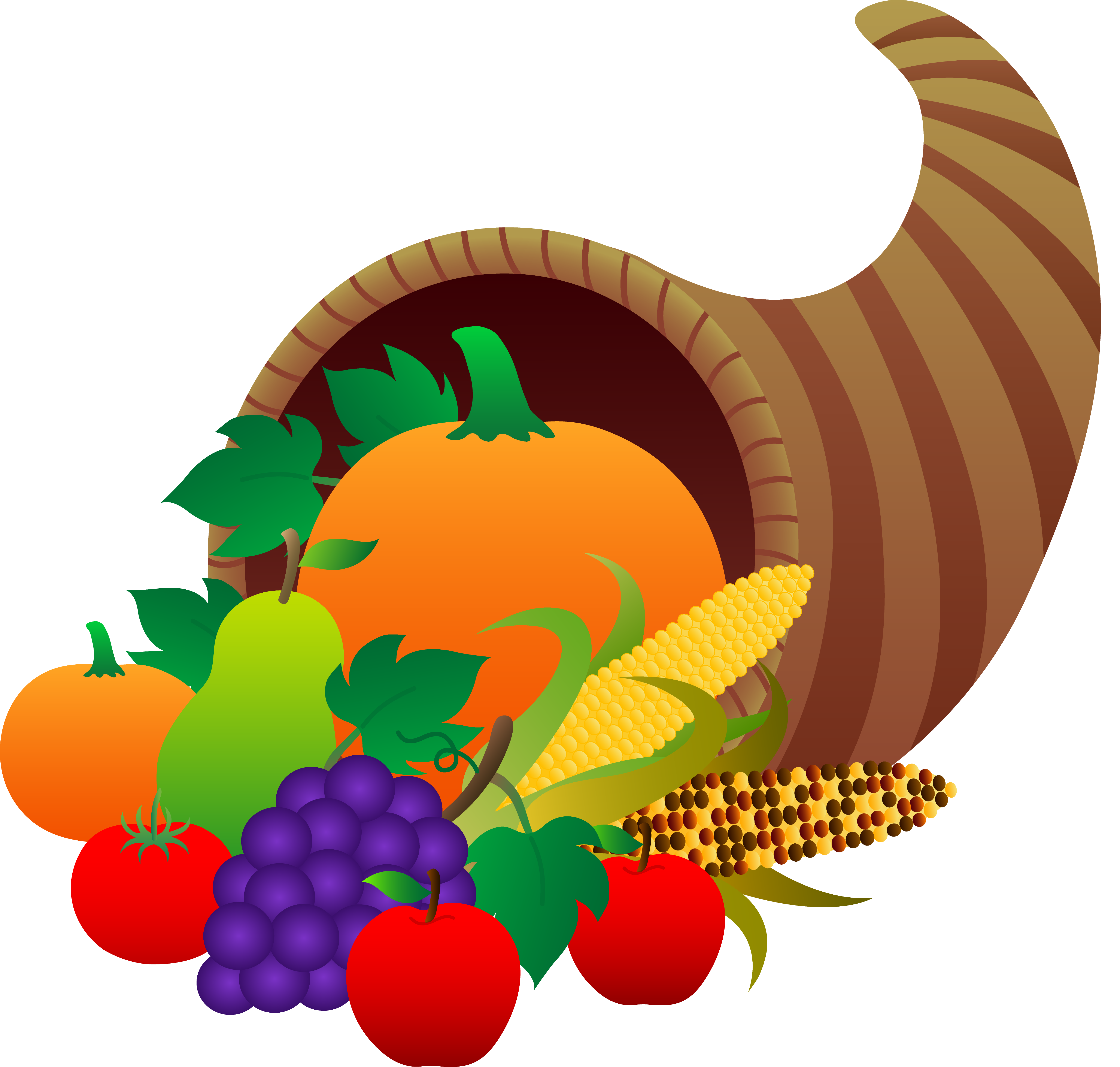 Thanksgiving Cornucopia - Free Clip Art