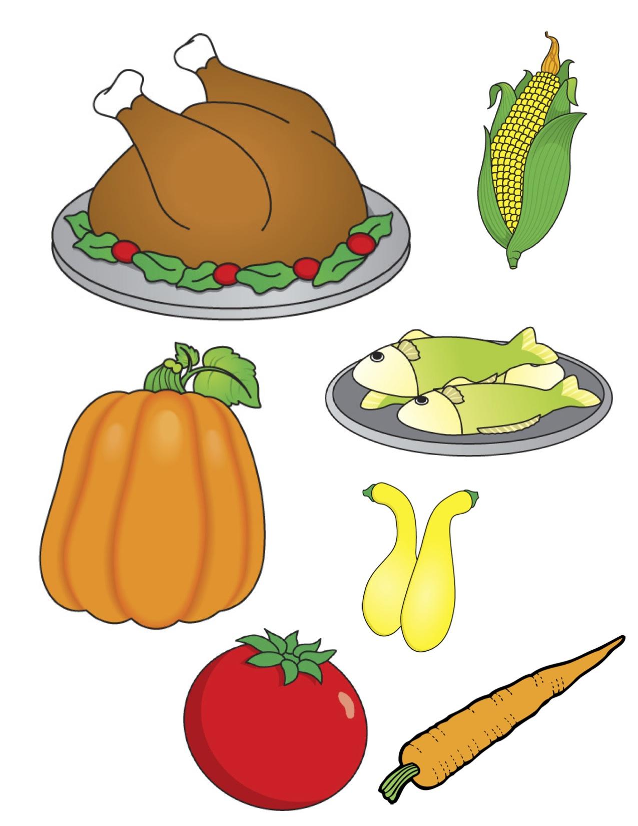 Thanksgiving Dinner Clip Art; Clipart thanksgiving food ...
