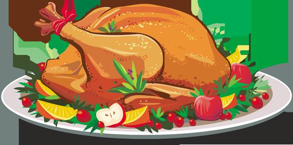 Thanksgiving Dinner Clip Art .