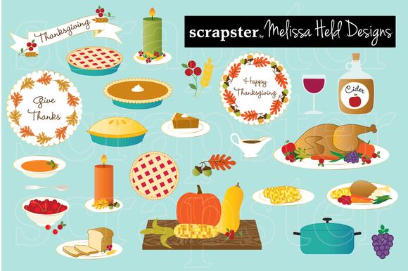 Thanksgiving Food Clip Art ..