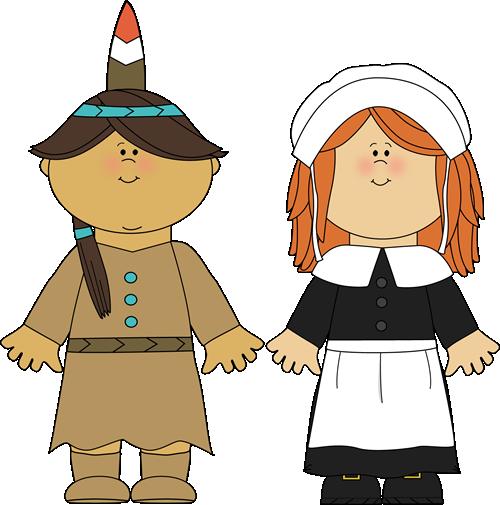 Thanksgiving Indian Clipart Indian Girl Pilgrim Girl