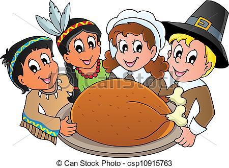 ... Thanksgiving pilgrim theme 3 - vector illustration.