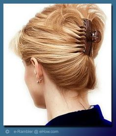 The Claw Clip is the greatest invention ever! My normal at-home housework mode hairstyle