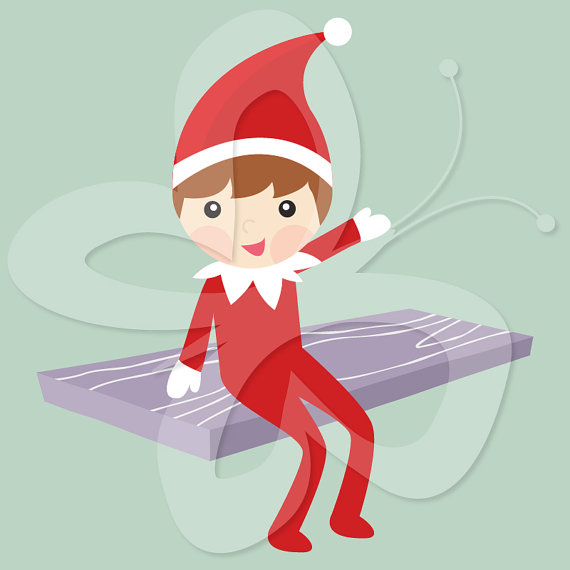 The Elf On The Shelf Clip Art Clipart Commercial And Personal Use