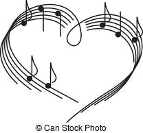 The heart of the music camp with notes.