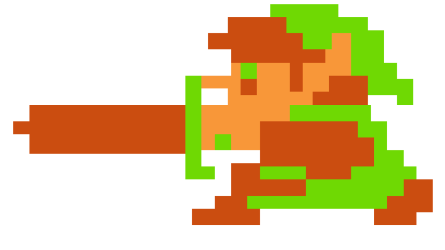 Link The Legend of Zelda 8bit Full HD by Racamo7 ClipartLook.com