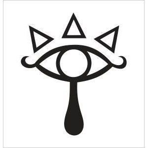 The Legend of Zelda Sheika Tribe Eye Symbol Vinyl Die Cut Decal Sticker  5.00 Black