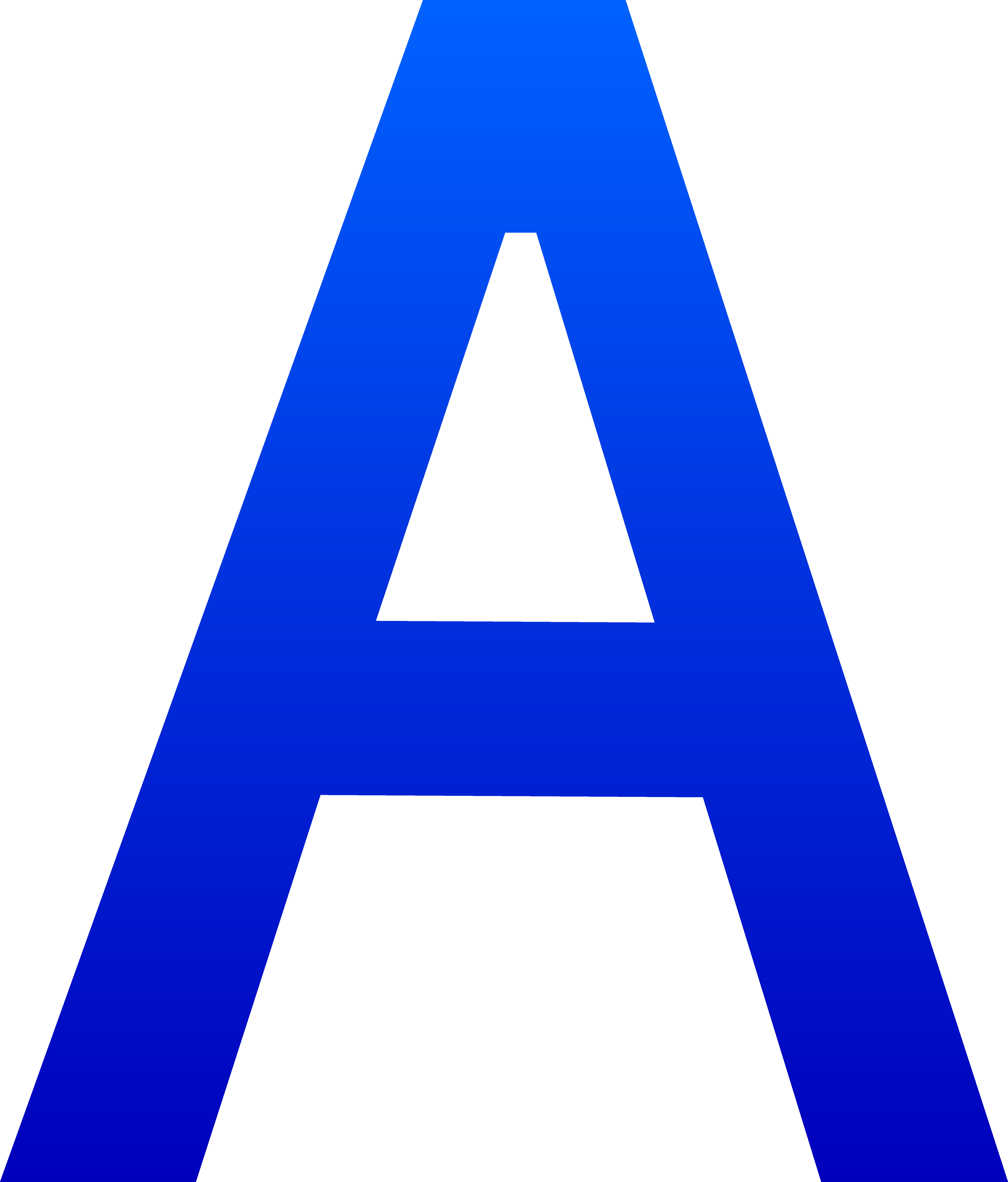The Letter A - Free Clip Art