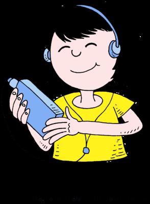 The Listen to Music Clip Art