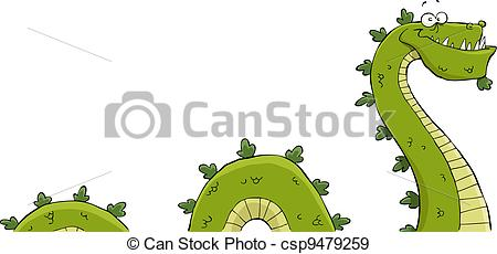 The Loch Ness Monster Stock Illustrationby MIRO3D0/22; Monster - Sea serpent on a white background vector.