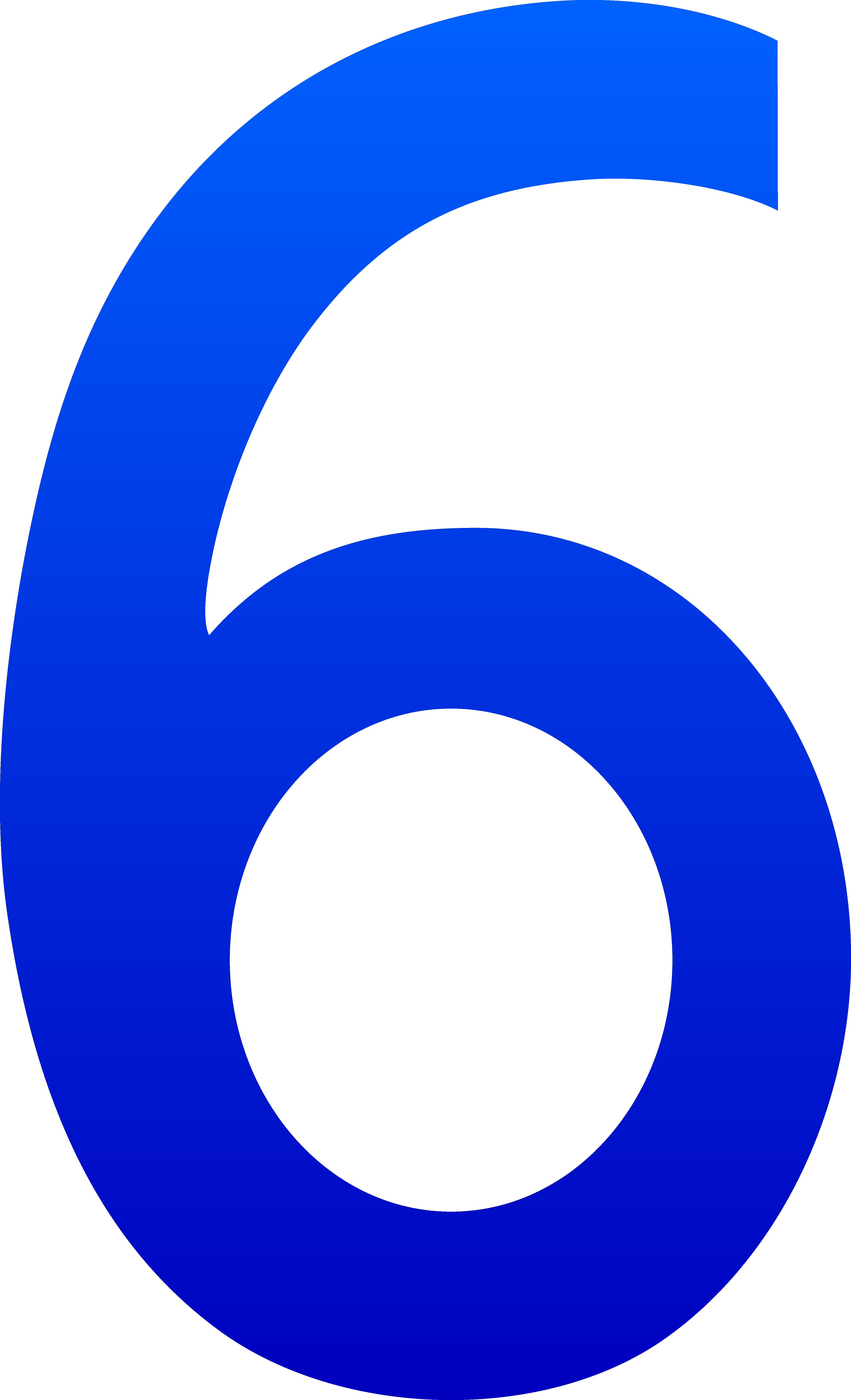 The Number Six - Free Clip Art