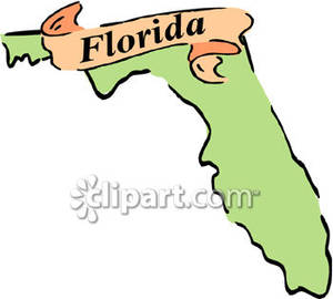The State Of Florida Royalty Free Clipart Picture