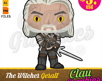The Witcher Geralt Cartoon SVG patterns collection and Clipart for  papercraft applications, scrapbook and more