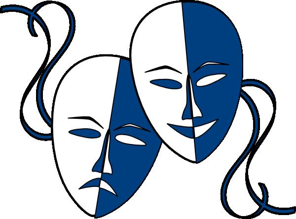Theatre Masks Clip Art At Clker Com Vector Clip Art Online Royalty