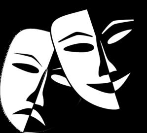 Theatre Masks clip art .