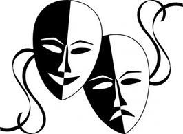 Theatre masks santa clipart - ClipartFest