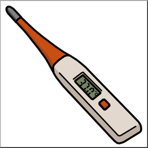 Clip Art: Medicine u0026 Medical Technology: Thermometer: Digital Oral Color I  abcteach.