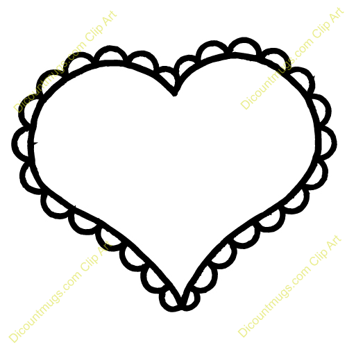 Thin Heart Flower Outline Clipart Cliparthut Free Clipart