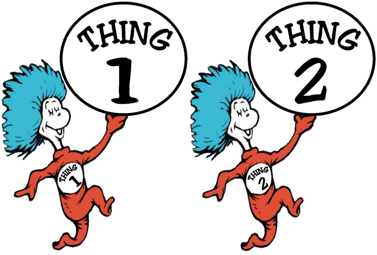 Thing 1 And Thing 2 Iron On Transfer | EBay