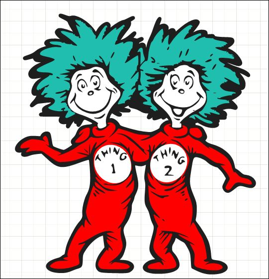 Thing 1 And Thing 2 Printable Clip Art Clipart Best