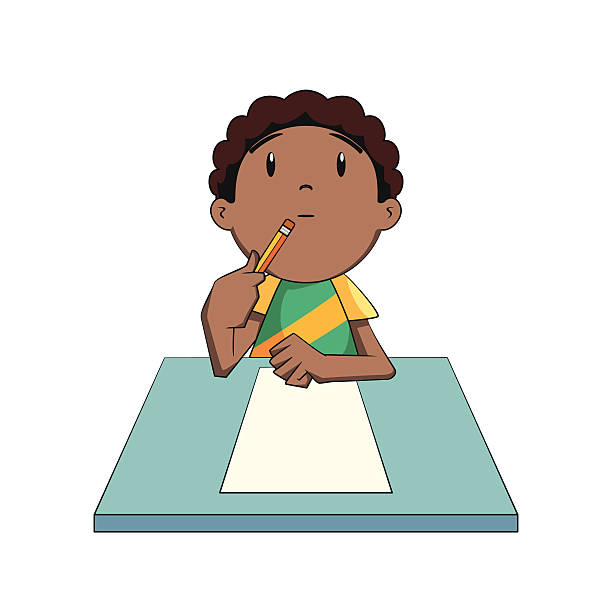 Boy clipart thinking #10