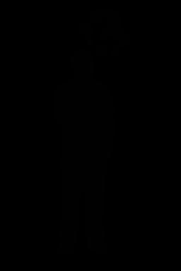 Thinking Man Clipart SVG .