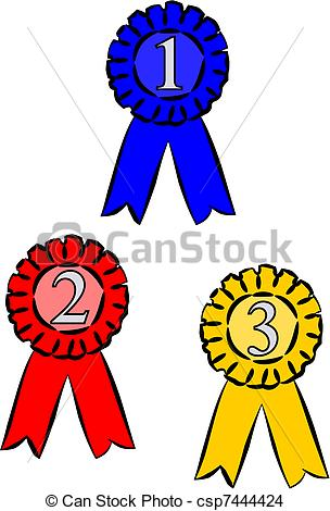 Third Place Ribbon Clip Art. first, second and third place .