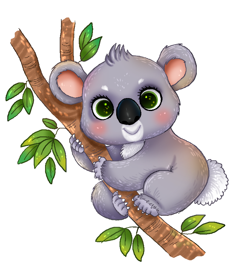 This cute adorable koala clip art is perfect for use on your school projects, reference books, presentations, wildlife projects, etc.
