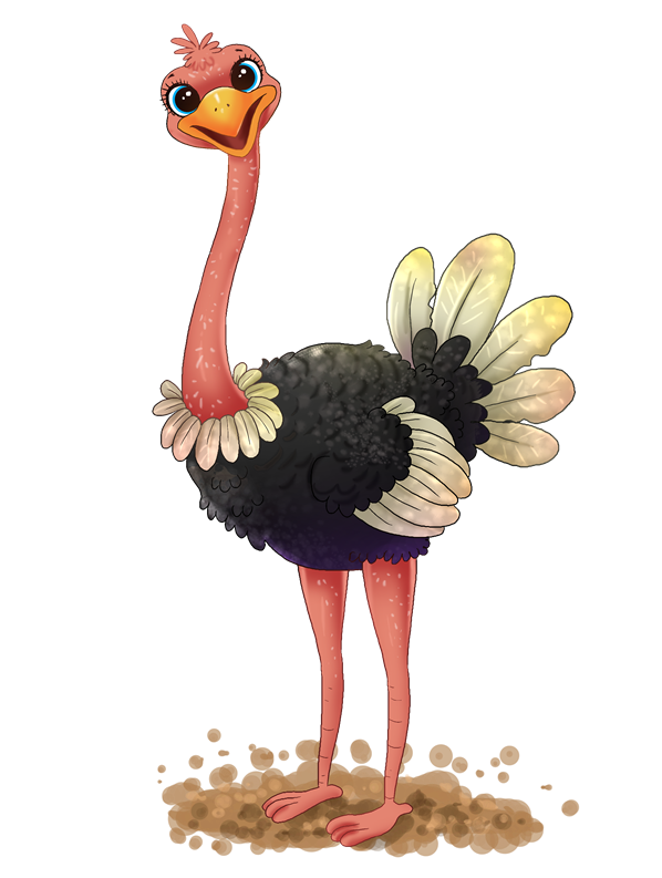This cute adorable ostrich clip art is free for personal or commercial use. Bring life to your school projects, storybooks, websites, videos, etc. by using ...