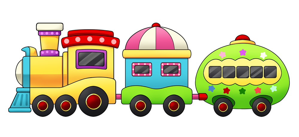 This cute and lovely colorful cartoon train clip art is perfect for use on your personal or commercial projects like school projects, circus promotional ...