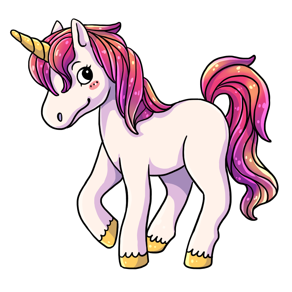 This lovely cartoon unicorn clip art is great for use on your childrenu0026#39;s books, webpages, fantasy projects, animations, etc. You can use this clip art on ...