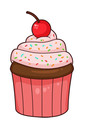 This nice cartoon cupcake clip art is great for use on whatever project of yours that requires an image of a cupcake. Use this clip art on your personal or ...