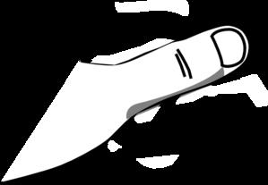 Thumb White Clip Art At Clker Com Vector Clip Art Online Royalty