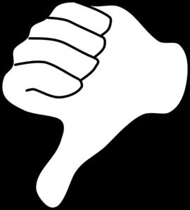 Thumbs Down Clip Art Vector Clip Art Online Royalty Free