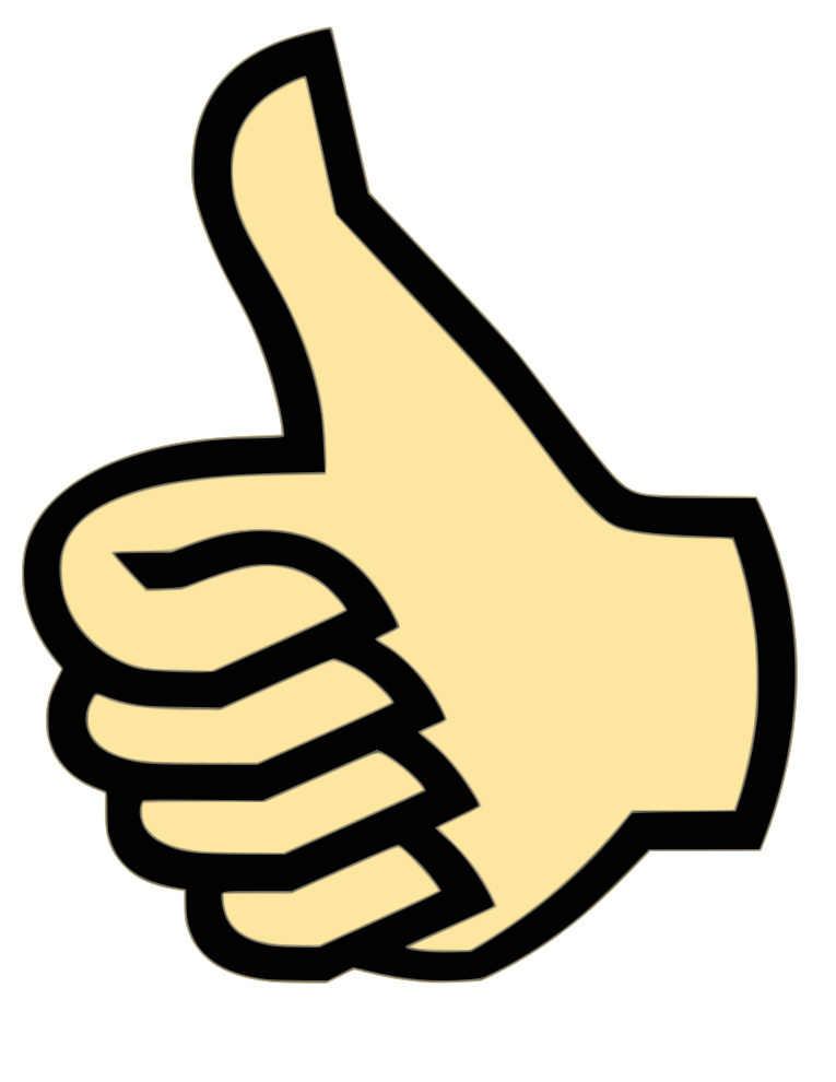 thumbs up clipart