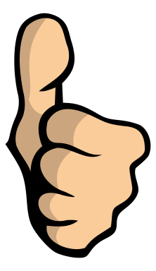 Thumbs up down thumb war clipart clipart