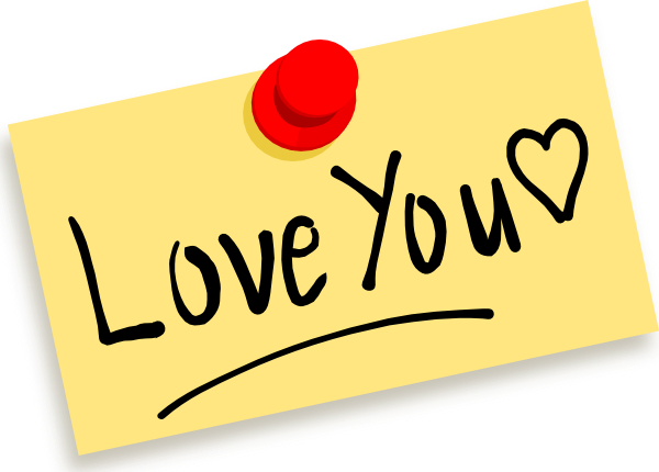 Thumbtack Note Love You Clip Art At Clker Com Vector Clip Art Online