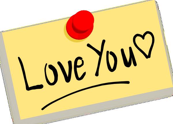 Thumbtack Note Love You Clip Art At Clker Com Vector Clip Art Online