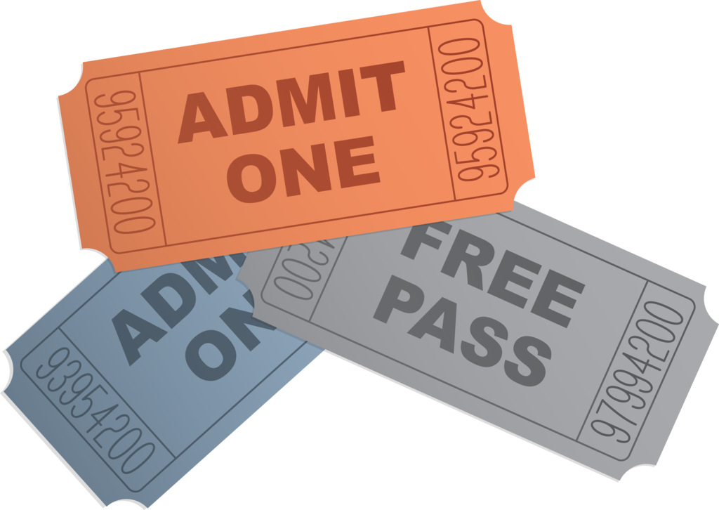 Ticket Clipart - Movie Clipart, Free Pass Clipart