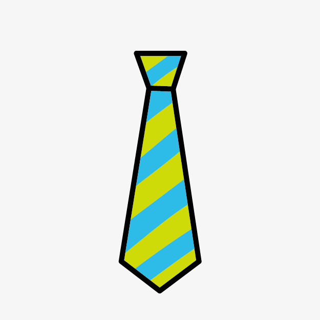 Color Cartoon Tie, Color Clipart, Cartoon Clipart, Tie Clipart PNG Image  And Clipart