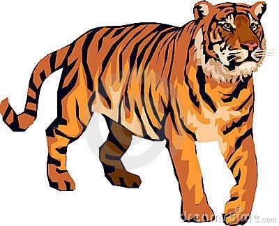 tiger clip art running tiger .