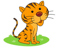young tiger with large eyes clipart. Size: 45 Kb