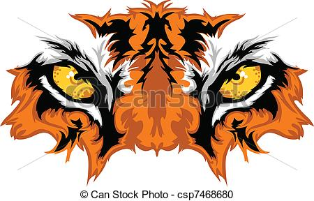 ... Tiger Eyes Mascot Graphic - Graphic Team Mascot Image of.