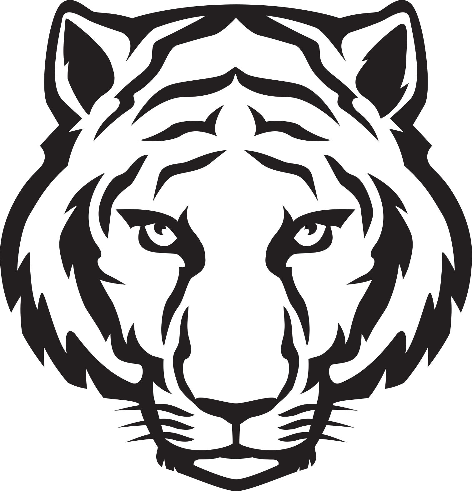 Tiger face clipart - .